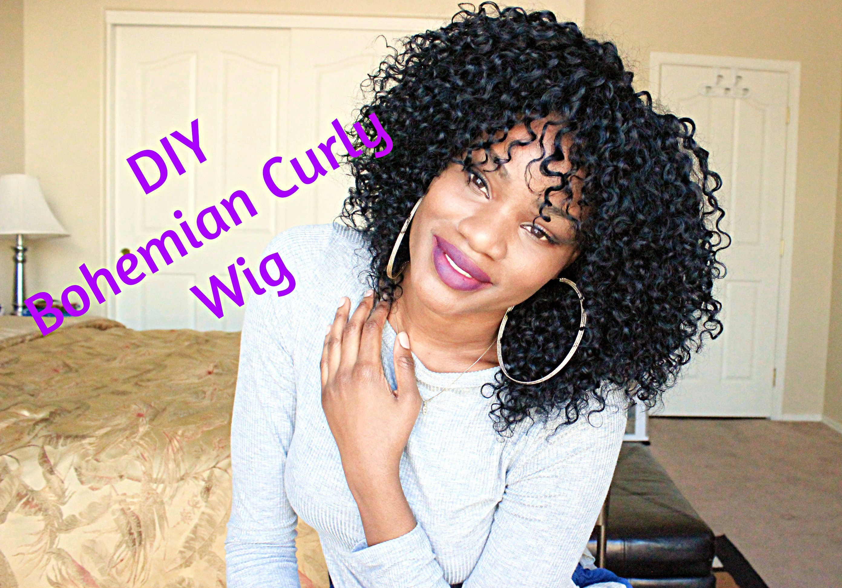 Diy Making My Bohemian Curly Wig Feat Outre Velvet Brazilian