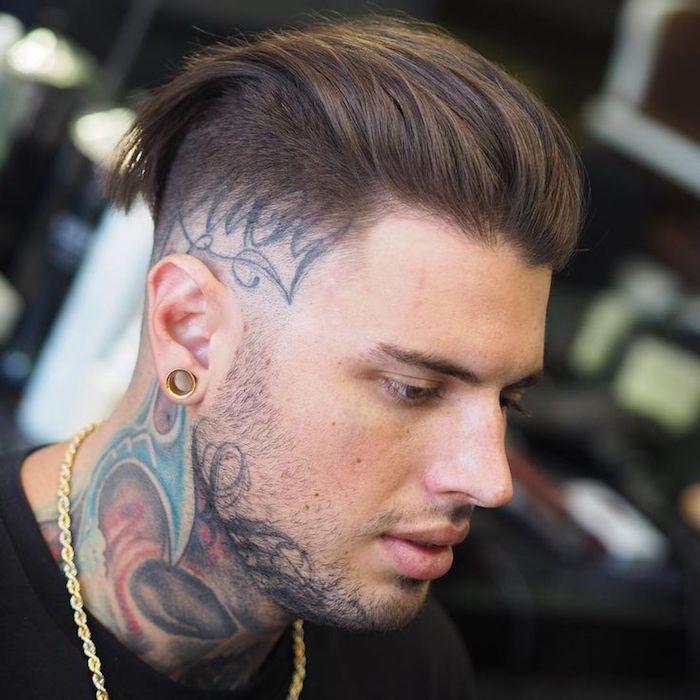 coupe de cheveux homme en arriere degrade
