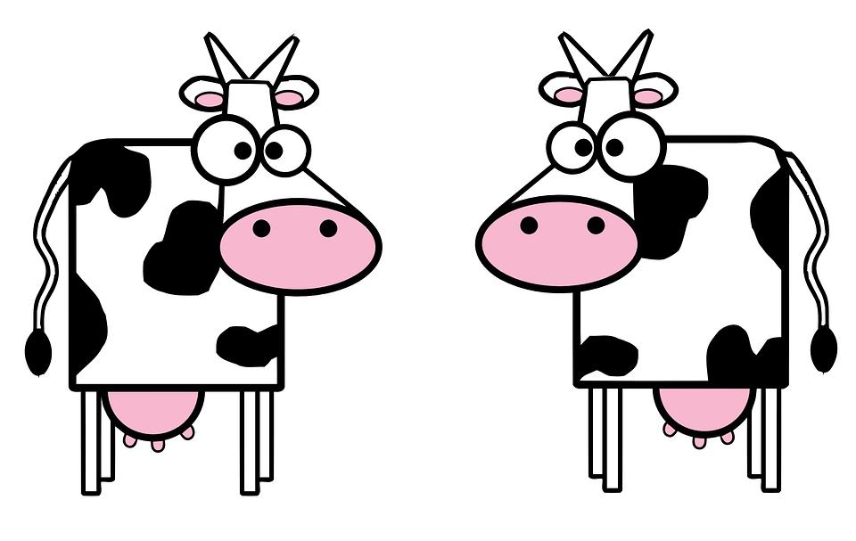 Интерьере, корова рисунок смешной