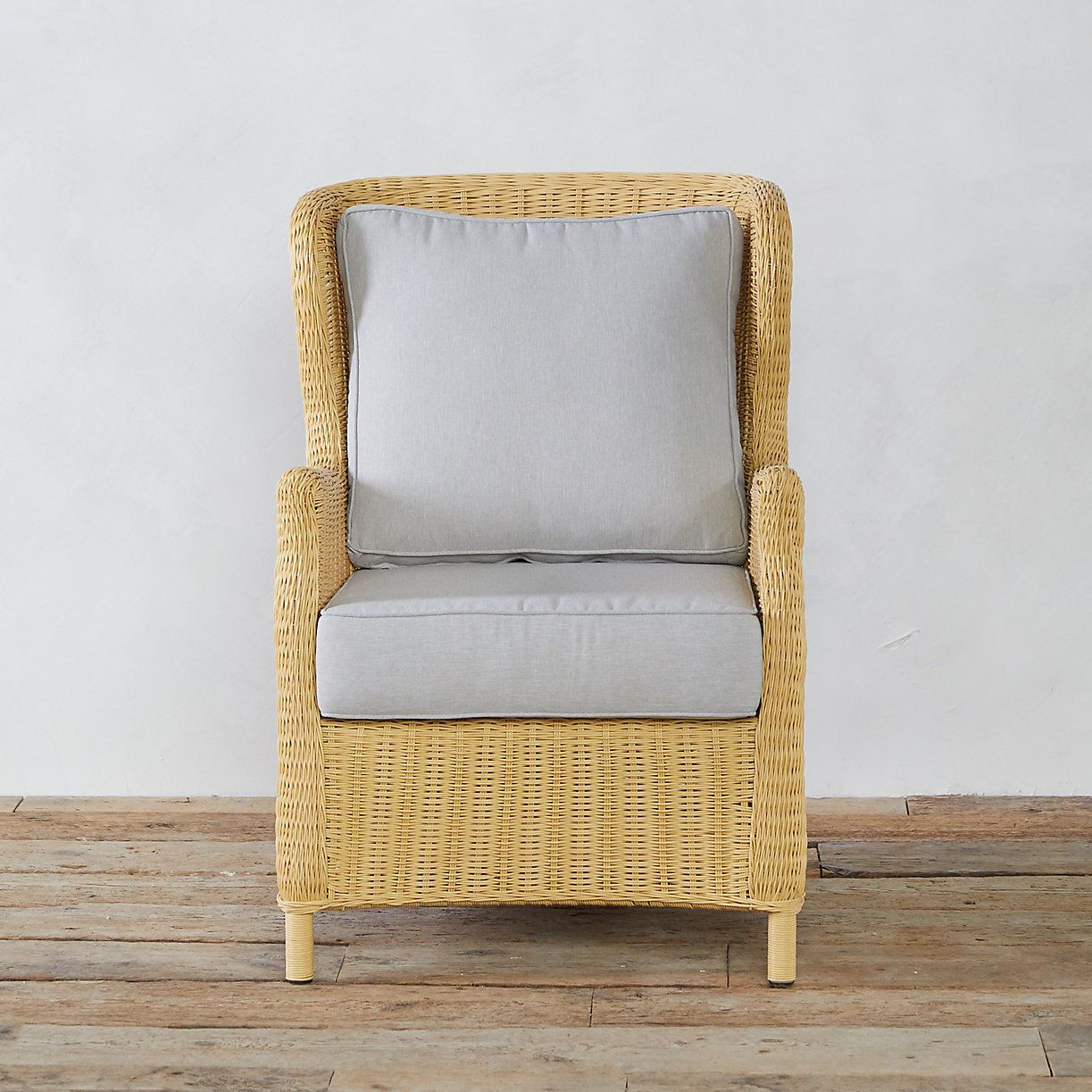 Polyrattan Java-exclusiv Modern Wingback All Weather Wicker Chair Dean And Austin S