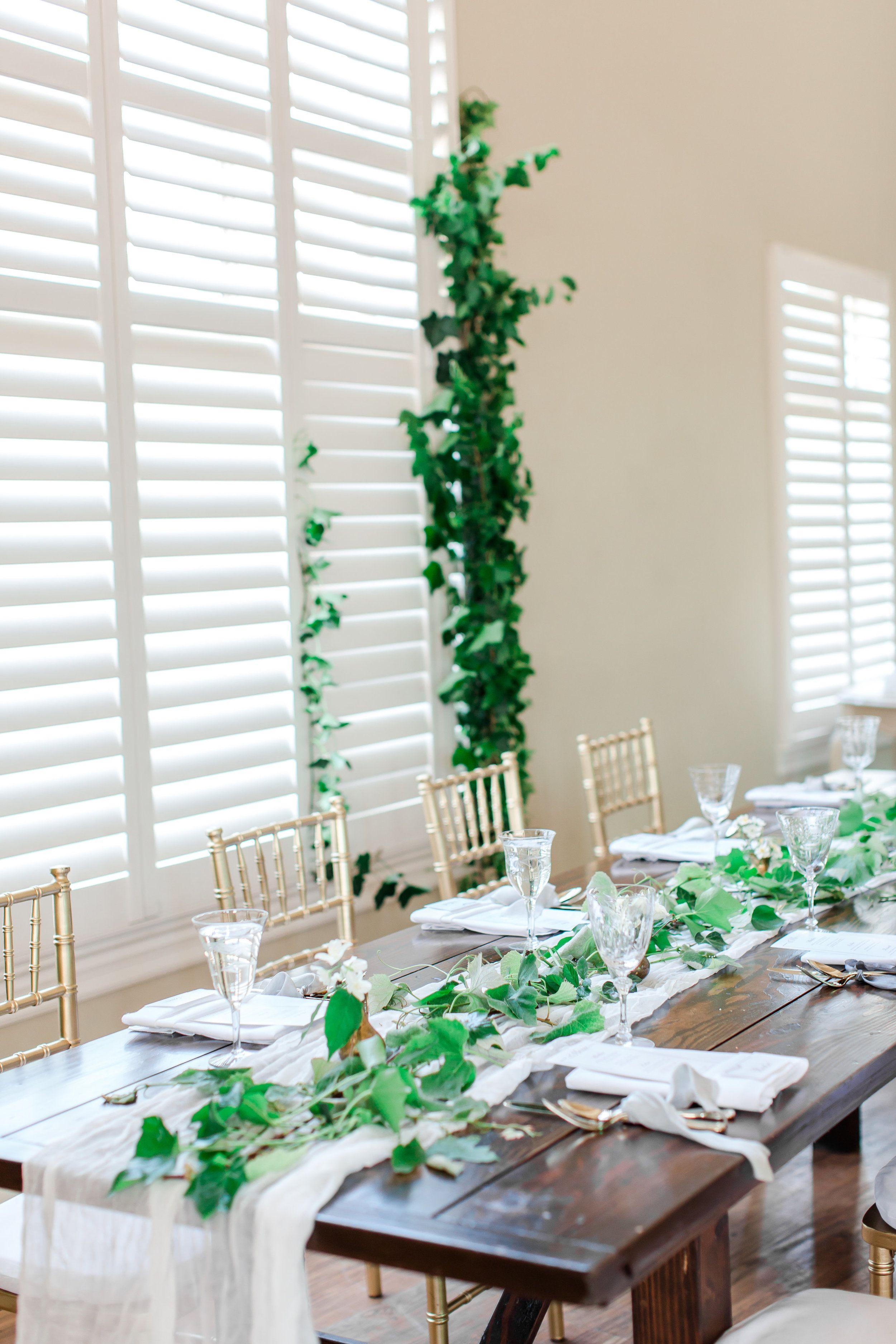 Grecian Wedding Inspiration   Indoor wedding receptions, Table ...