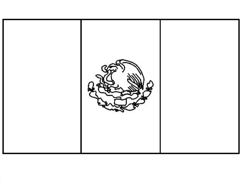 Mexican Flag Coloring Page Mexican Flags Flag Coloring Pages