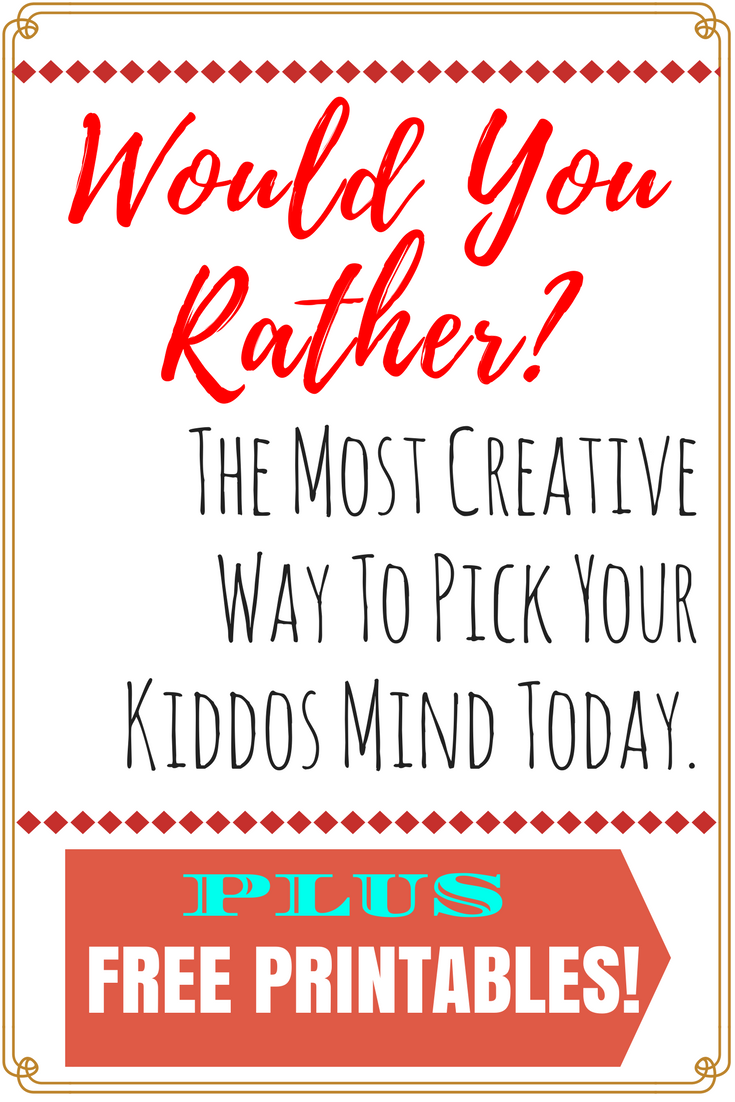 Would You Rather Questions For Kids and For Toddlers