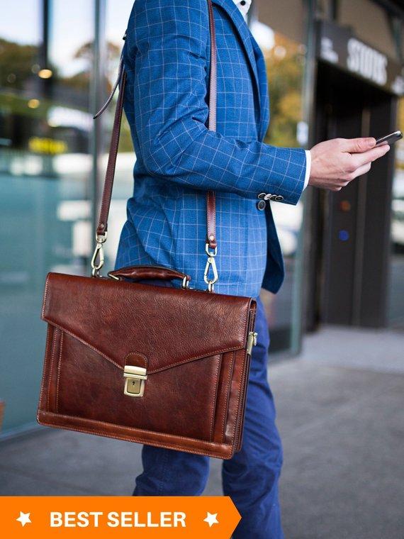 Mens leather briefcase 7111e3a54bb9d