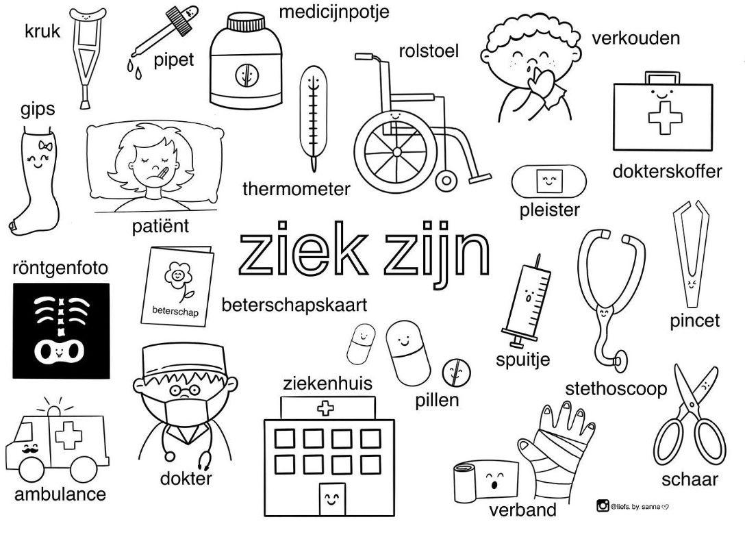 Pin Van Juf Kim Op Mijn Lichaam En Ziek Zijn My Body Thema Alfabet Kleurplaten Kinderen Onderwijs