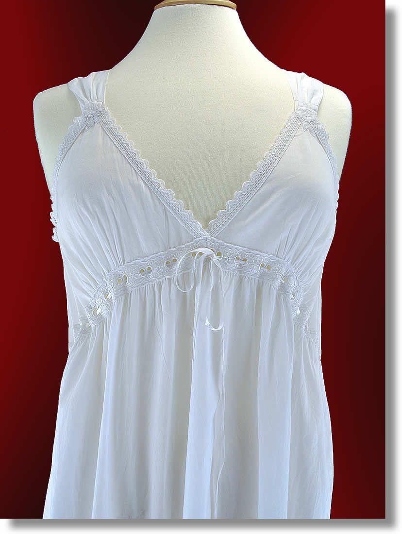 cotton nightgowns victorian   very feminine nightdress ...