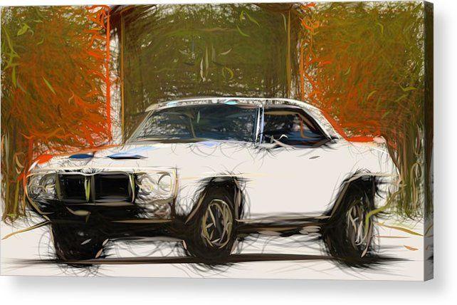 5 Pontiac Firebird Trans Am Coupe Draw Carstoon Concept