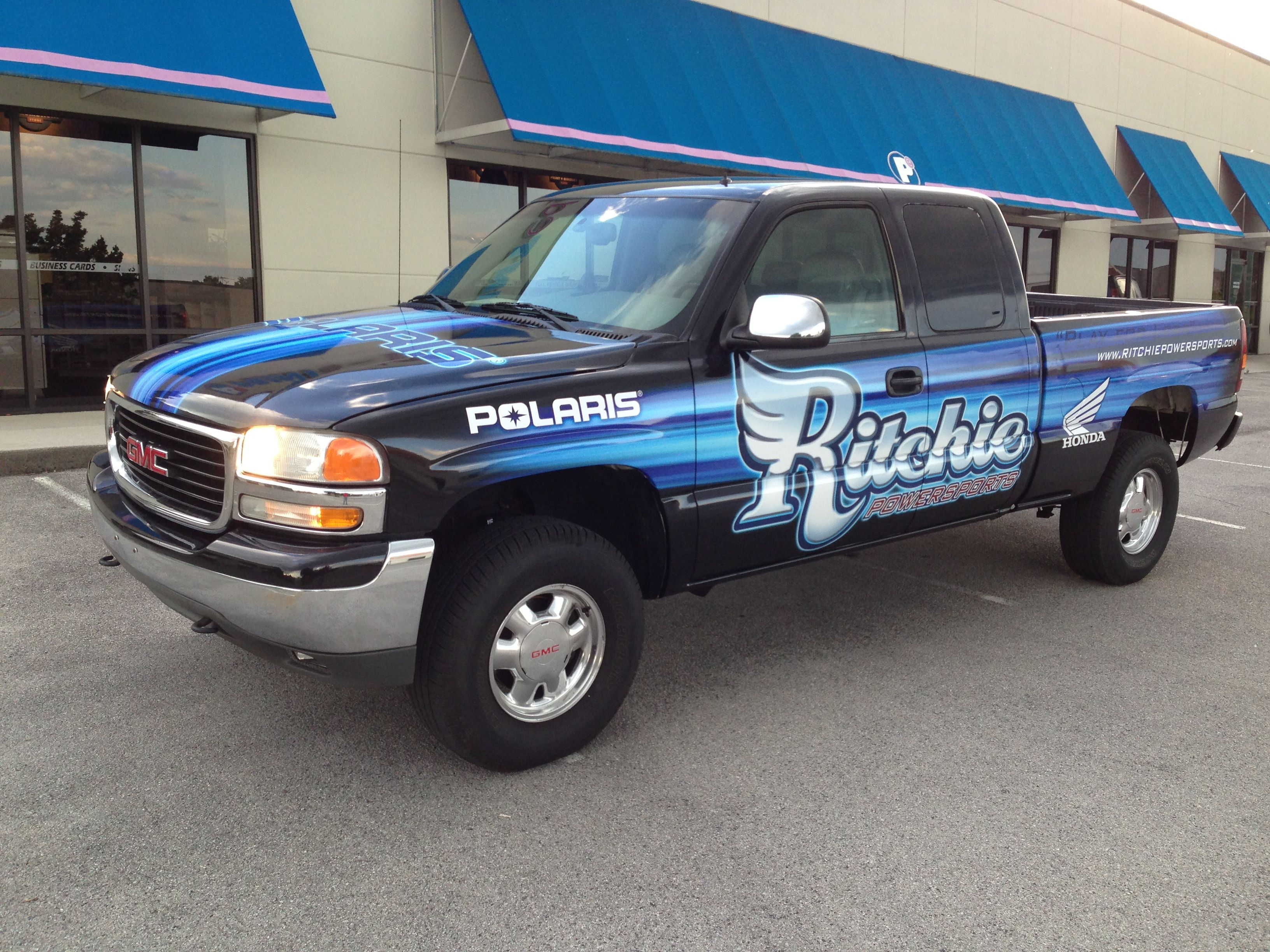 Ritchie Powersports Gmc Truck Wrap Knoxville Tn Vehiclegraphics Vehiclewraps Car Graphics Gmc Truck Car Wrap