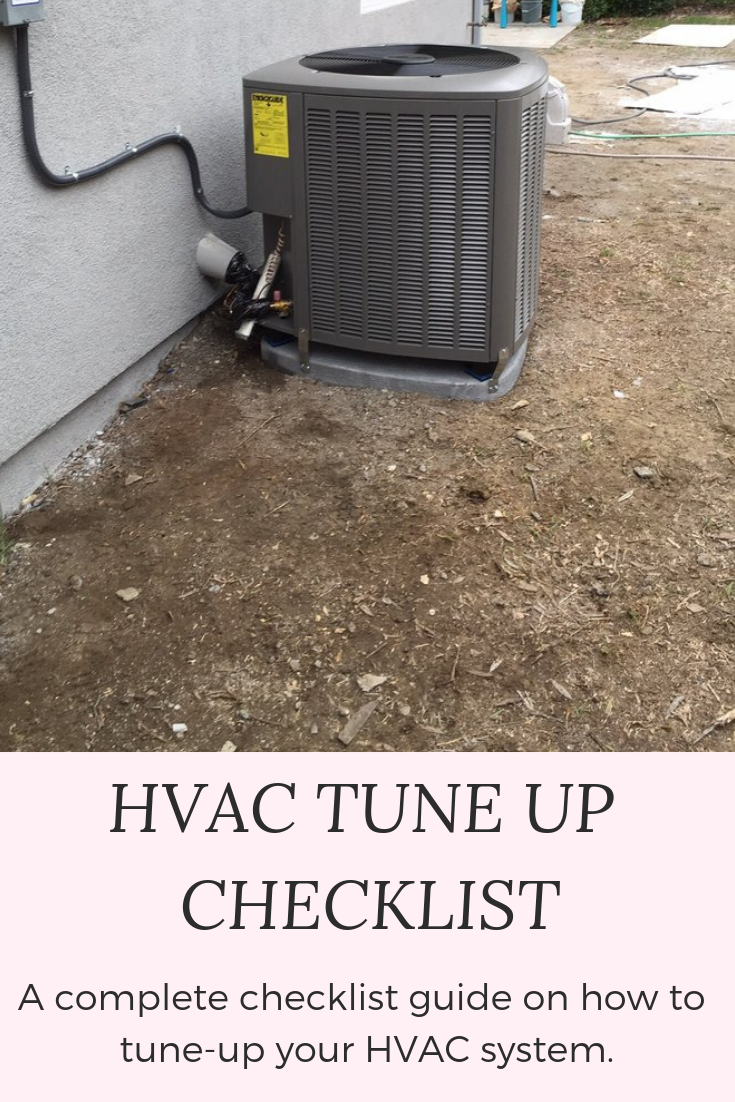 HVAC tuneup checklist & maintenance guide that helps you