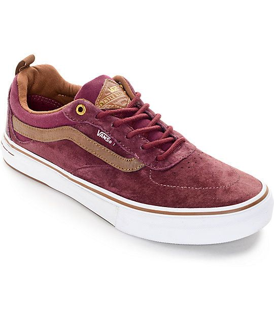 Vans Kyle Walker Pro Red and Brown Skate Shoes | Fashion | Shoes ...