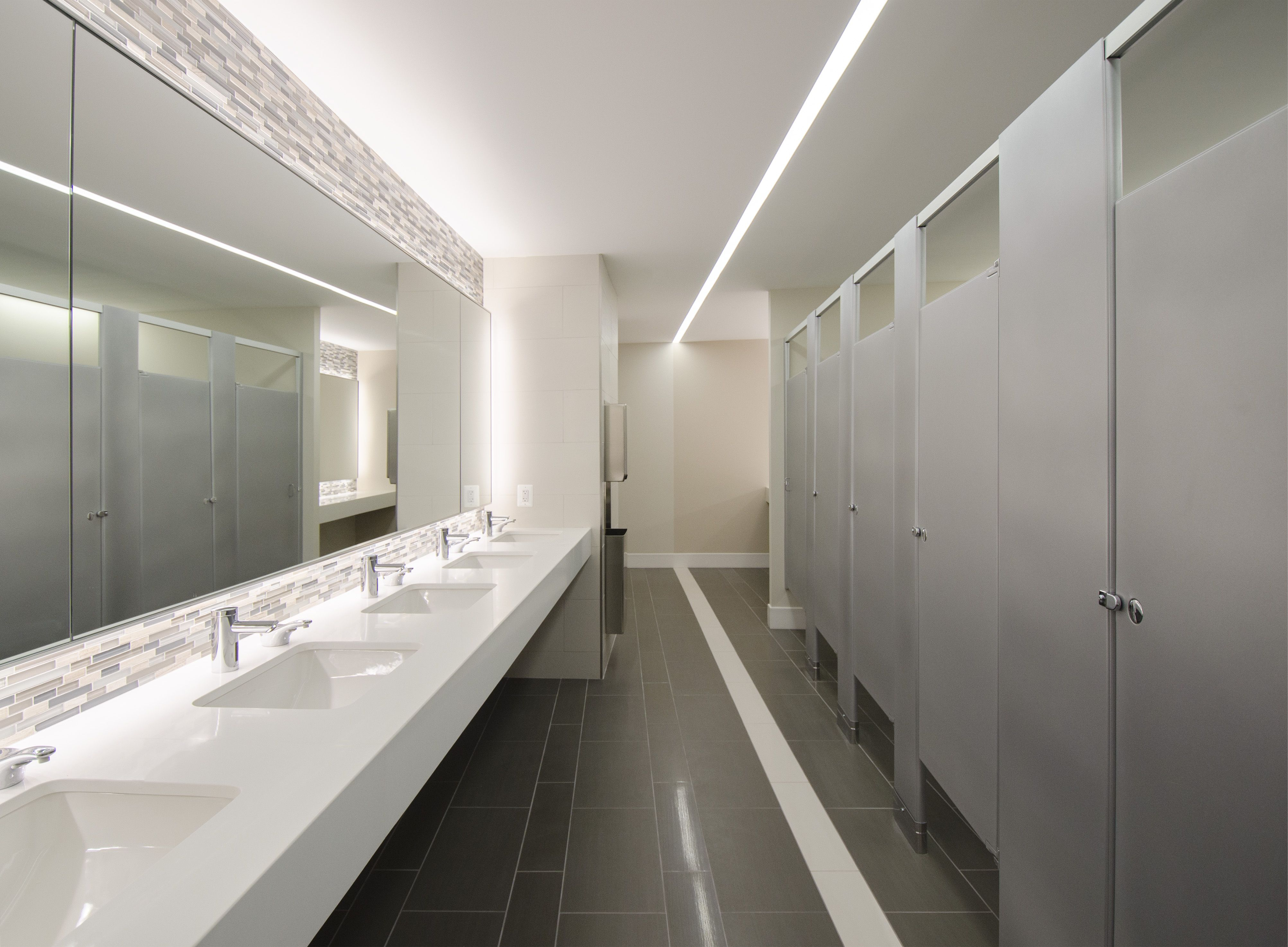 Commercial bathroom flooring tiles gurus floor for Office bathroom designs