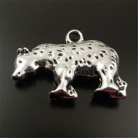 Graceangie 20 шт./лот антиквариата сплава белый медведь подвески DIY декор ювелирных нахождения 21 * 12 мм ( 32131 )