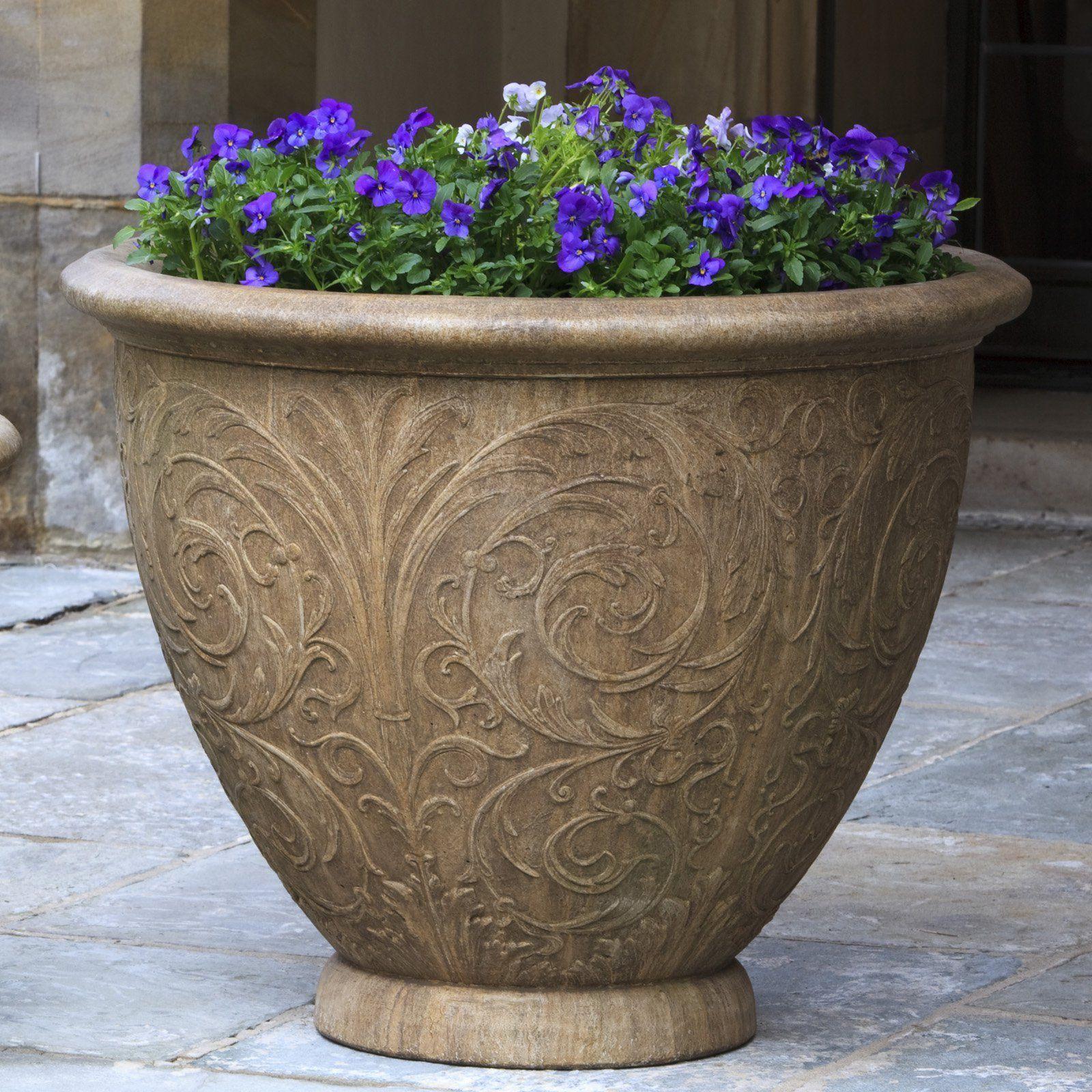 ceramic flower pots outdoor