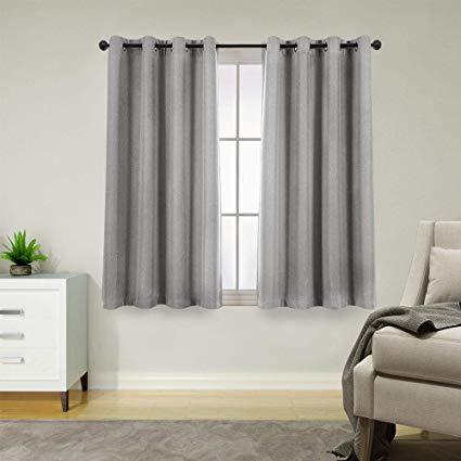 Amazon Com Jinchan Room Darkening Curtains Bedroom 54 Inch Long