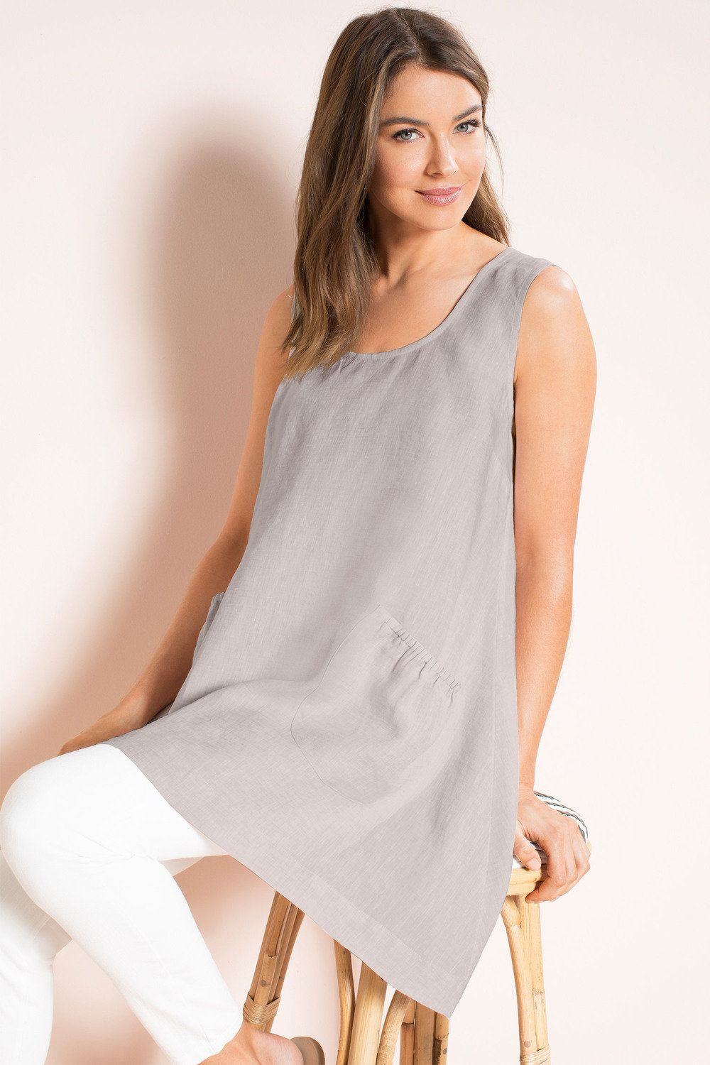 37c7cd60168 Capture Linen Pocket Tunic Online