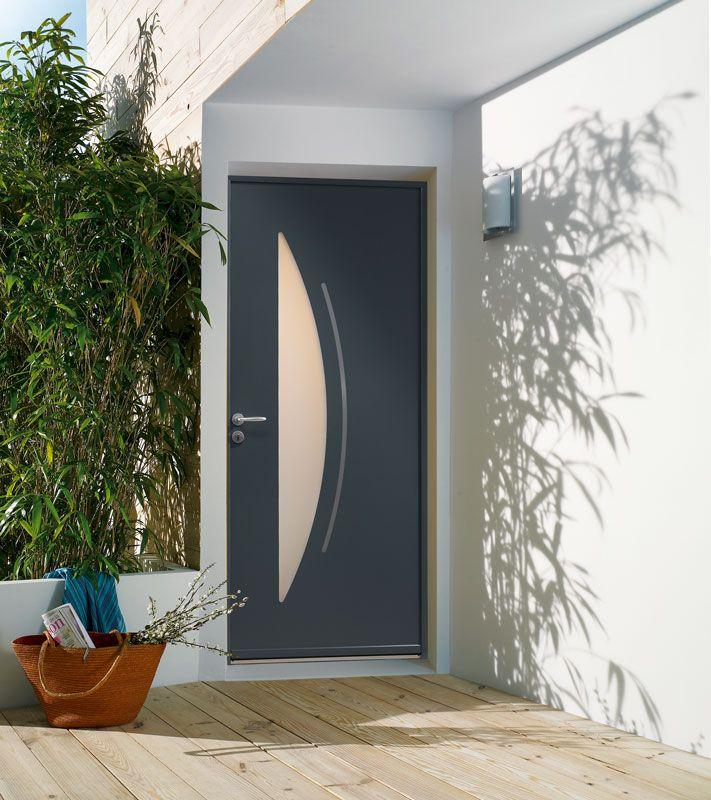 Porte DEntre Aluminium Zilten Modle Cotim  Vue Extrieure