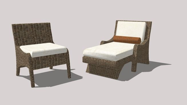 large preview of 3d model of patio furniture