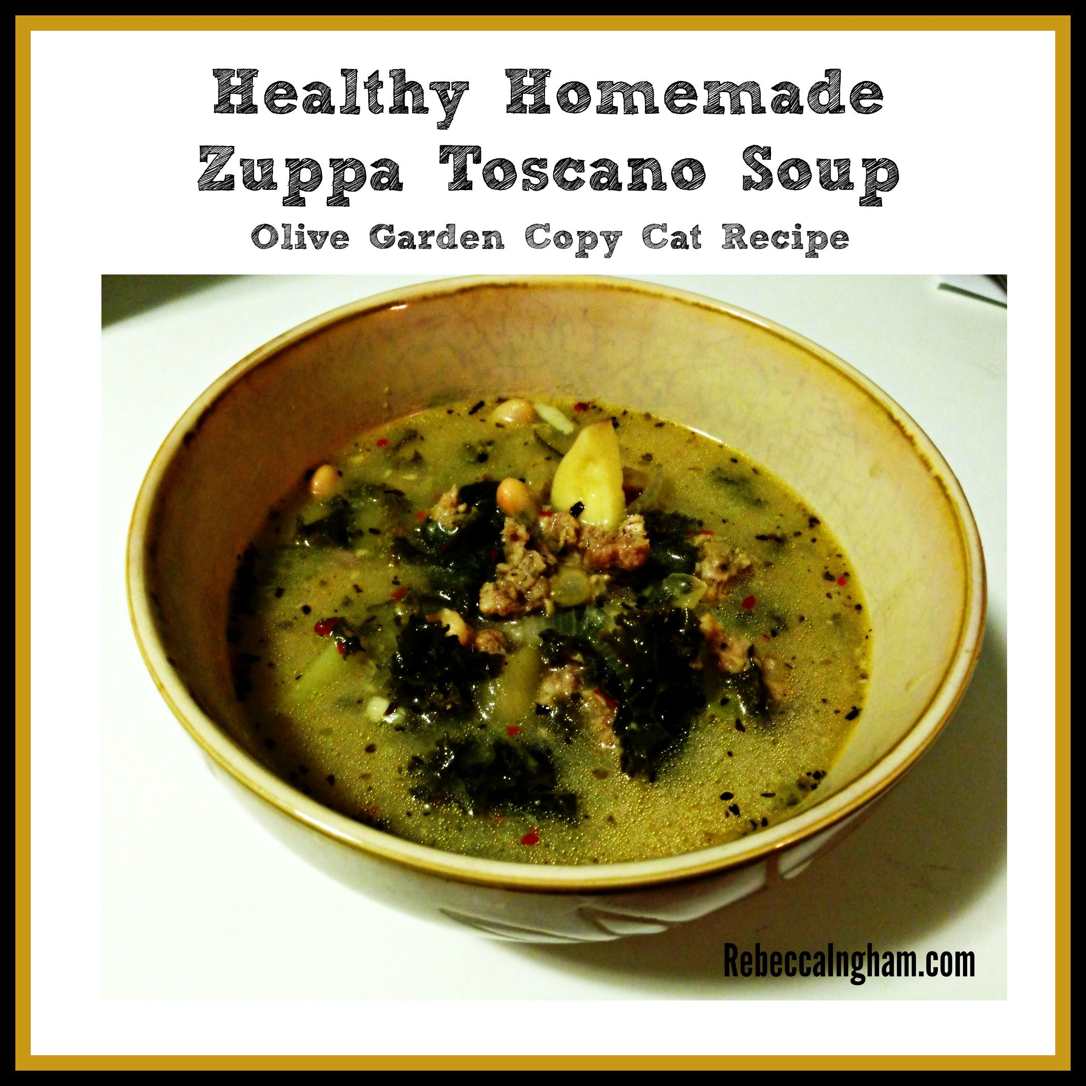 Healthy Homemade Zuppa Toscano Soup (Olive Garden Copy Cat