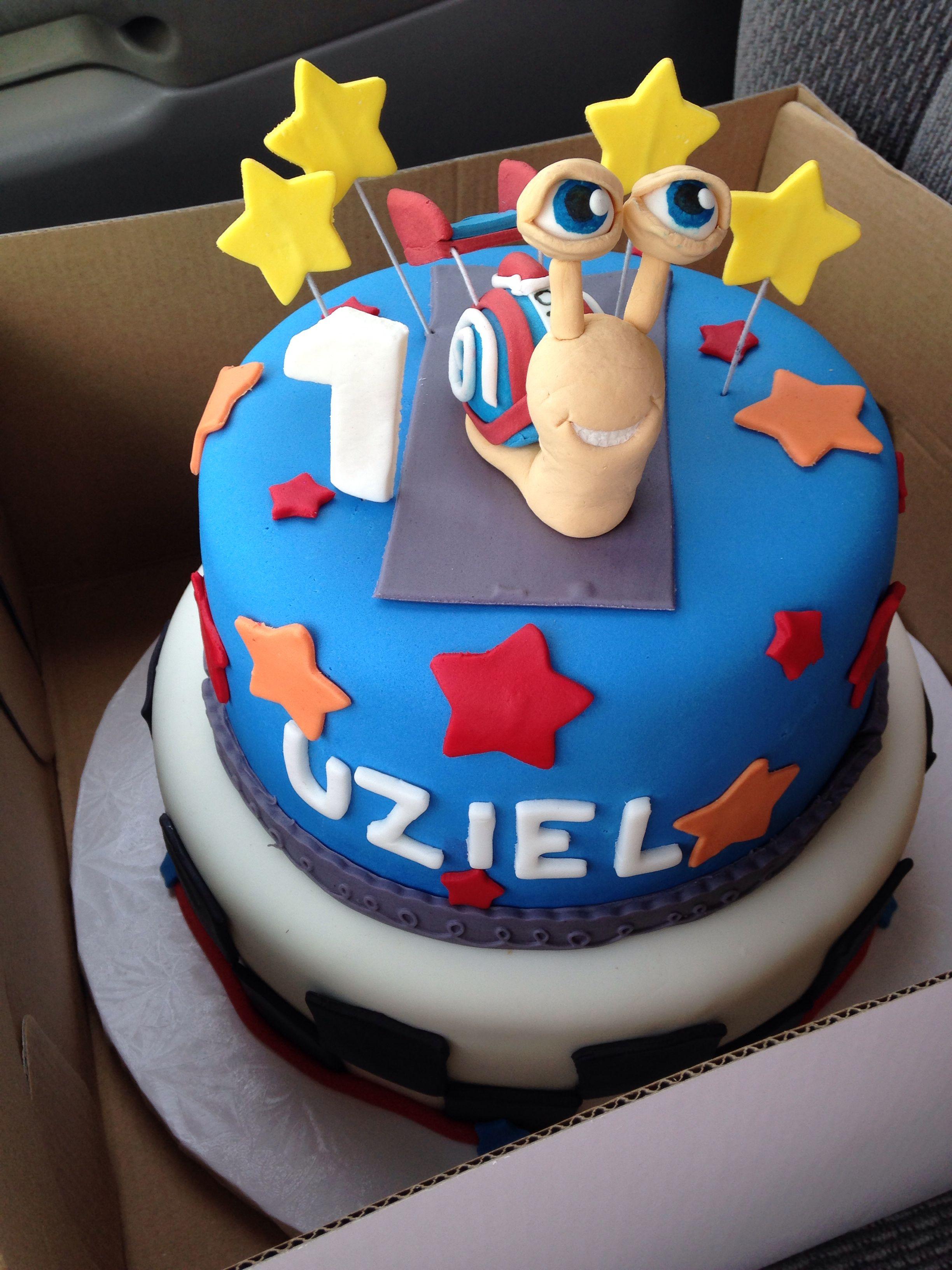 Turbo Snail Birthday Cake Uzielitos Birthdays Pinterest