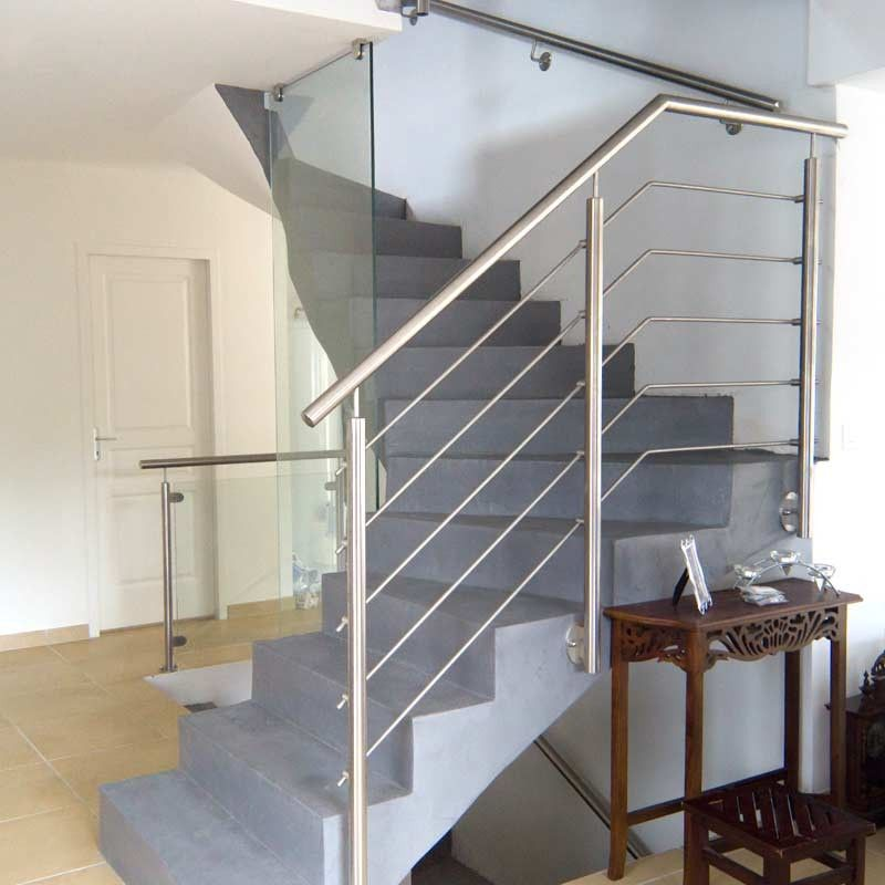 rampe escalier inox 5 barres pose anglaise rampes escaliers et rampe escalier. Black Bedroom Furniture Sets. Home Design Ideas