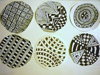 """Evan's """"commisioned"""" (by me)doodling (zentangle?) on fabric circles to become part of his graduation quilt"""