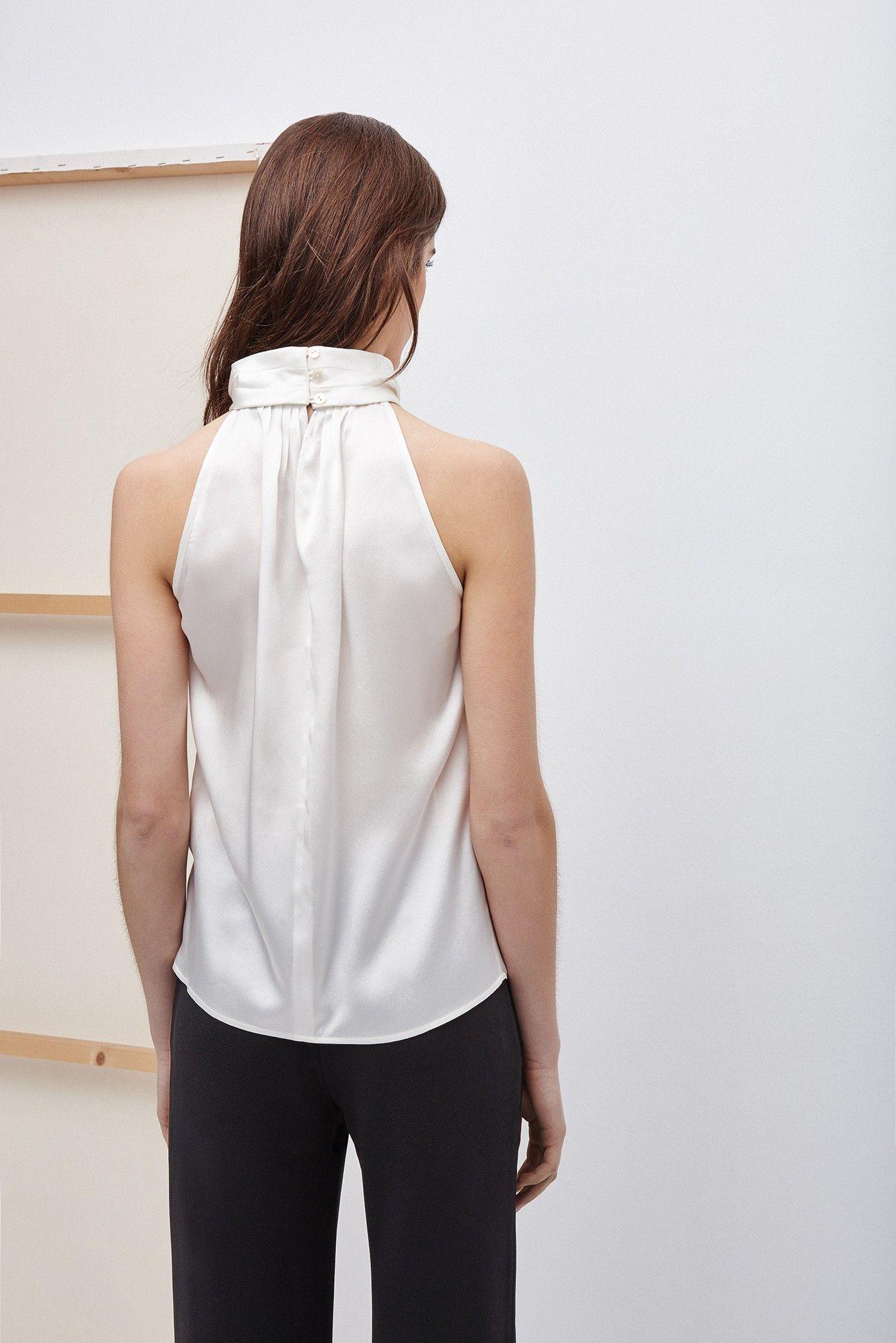 Top de seda con cuello halter camisas y tops adolfo for Vestidos largos adolfo dominguez outlet