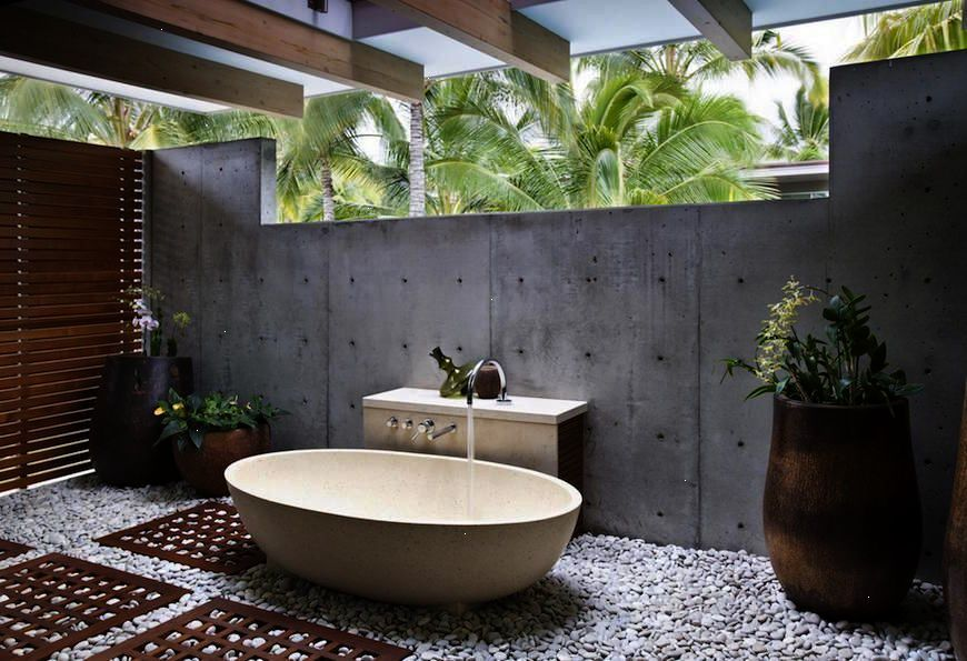 Check Out This Top 10 Astonishing Tropical Bathroom Ideas To See More Luxury Bathroom Ideas Visit Us Outdoor Bathroom Design Outdoor Bathrooms Bathroom Design