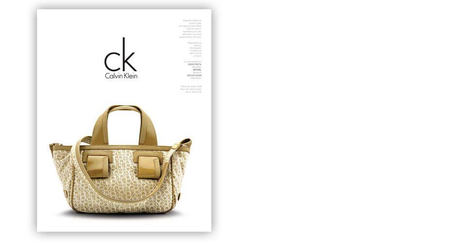 anuncio para Calvin Klein publicado en Mujer Hoy realizado por altura x