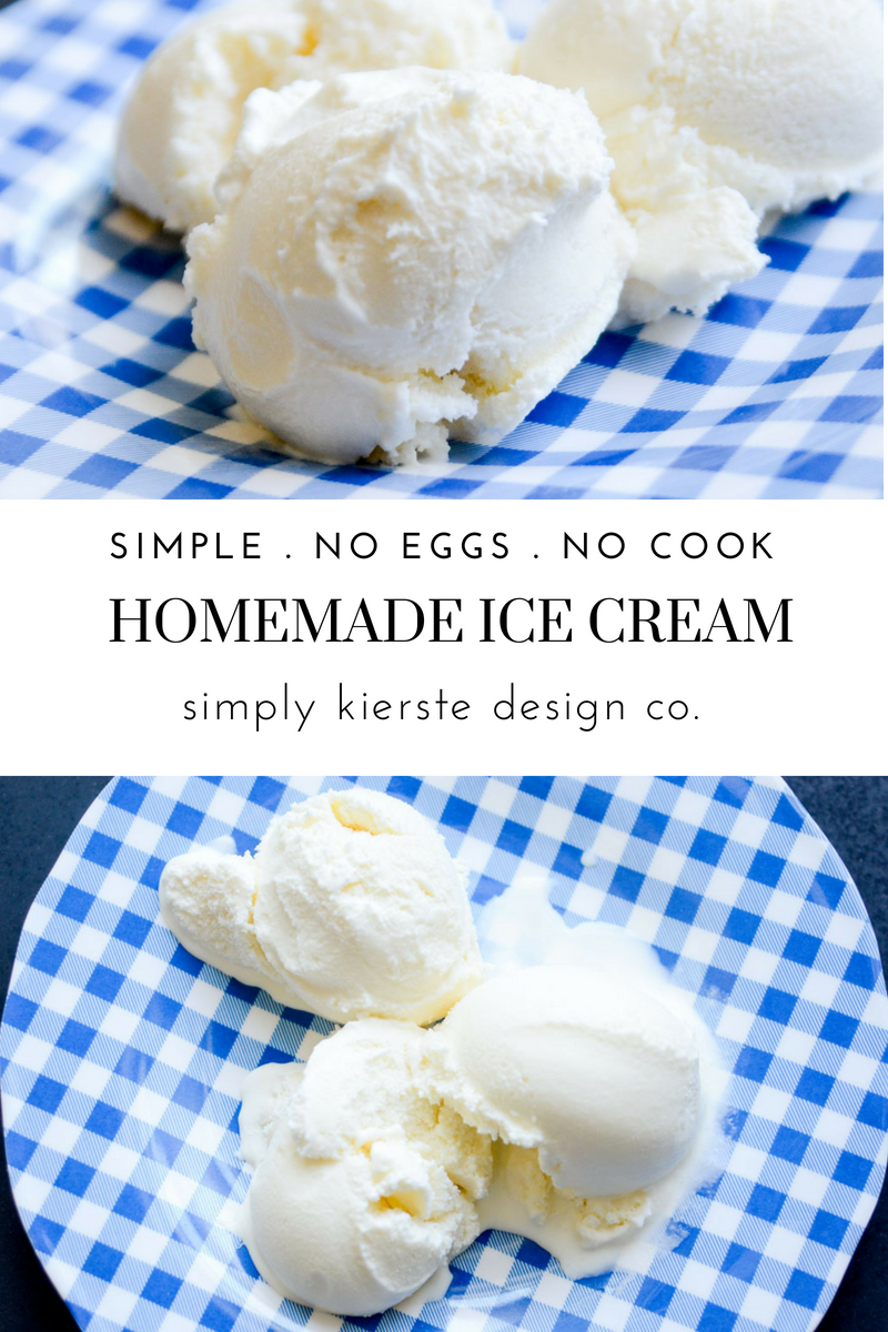 Simple Homemade Vanilla Ice Cream No Eggs No Cook Recipe Ice Cream Maker Recipes Easy Ice Cream Recipe Homemade Homemade Vanilla Ice Cream