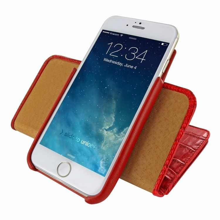 Piel frama iphone 6 6s wallet leather case red cowskin