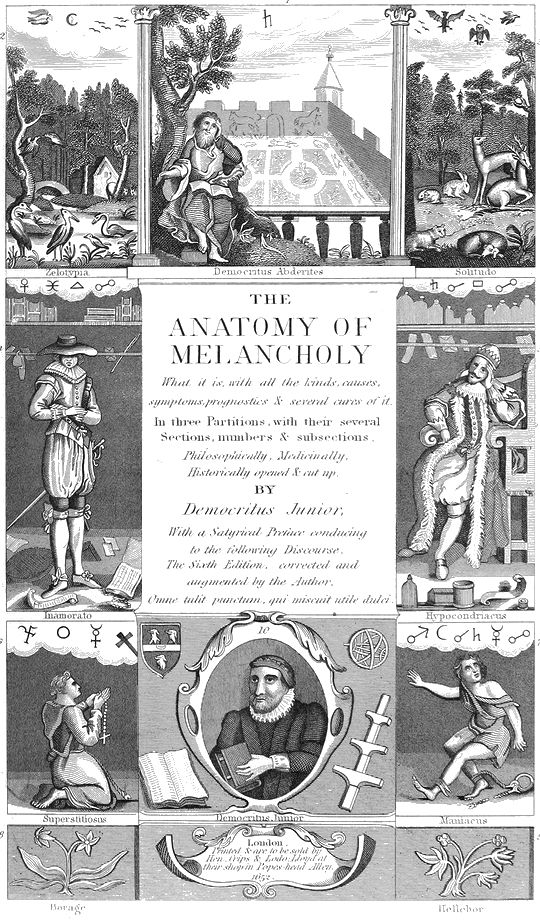 Robert Burton- The Anatomy of Melancholy, published 1621 | Prints ...