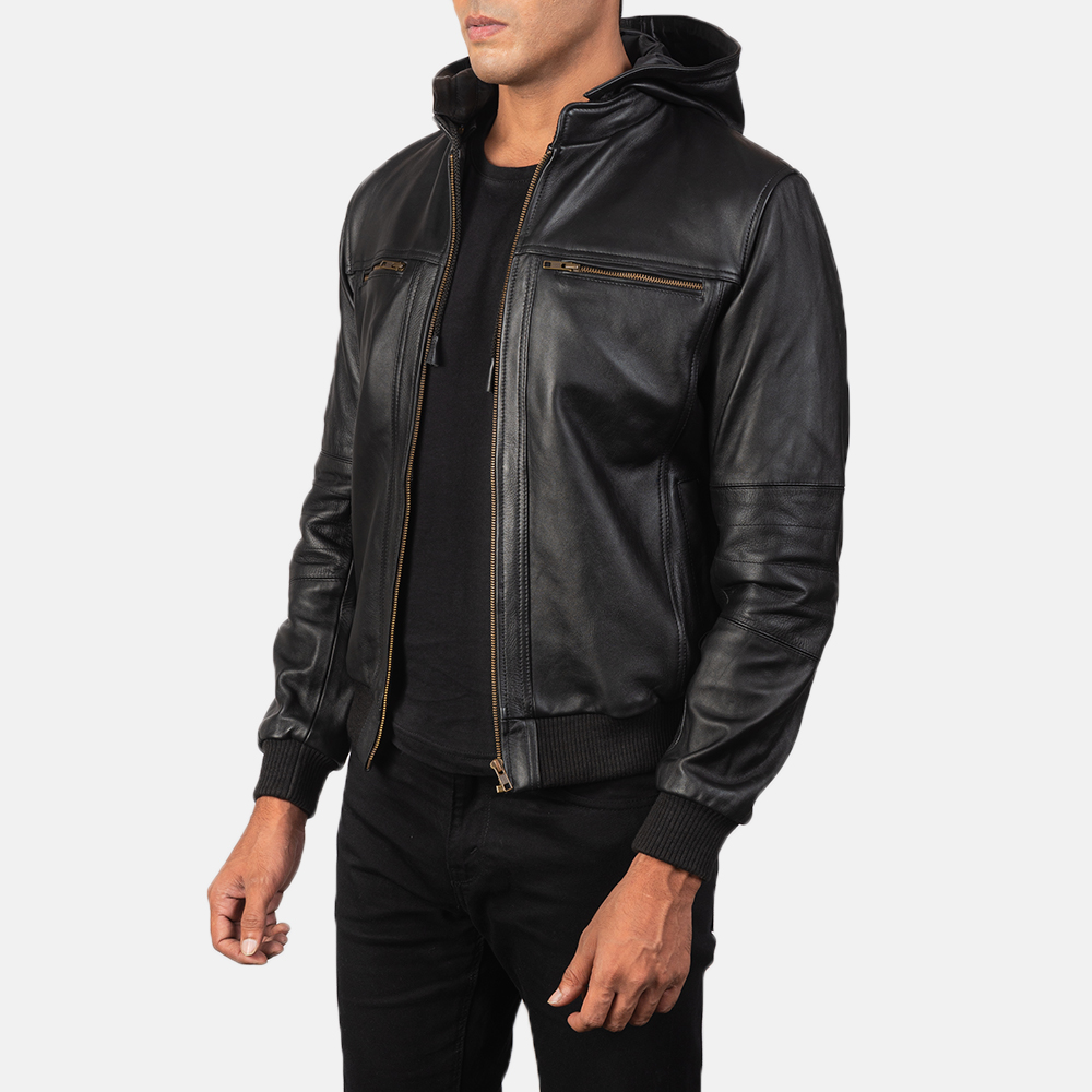 Bouncer Biz Black Leather Bomber Jacket Leather Bomber Jacket Black Leather Bomber Jacket Leather Bomber [ 1000 x 1000 Pixel ]