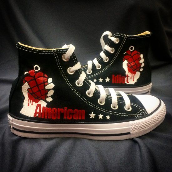 American Idiot Green Day Converse Sneakers Shoes   Converse