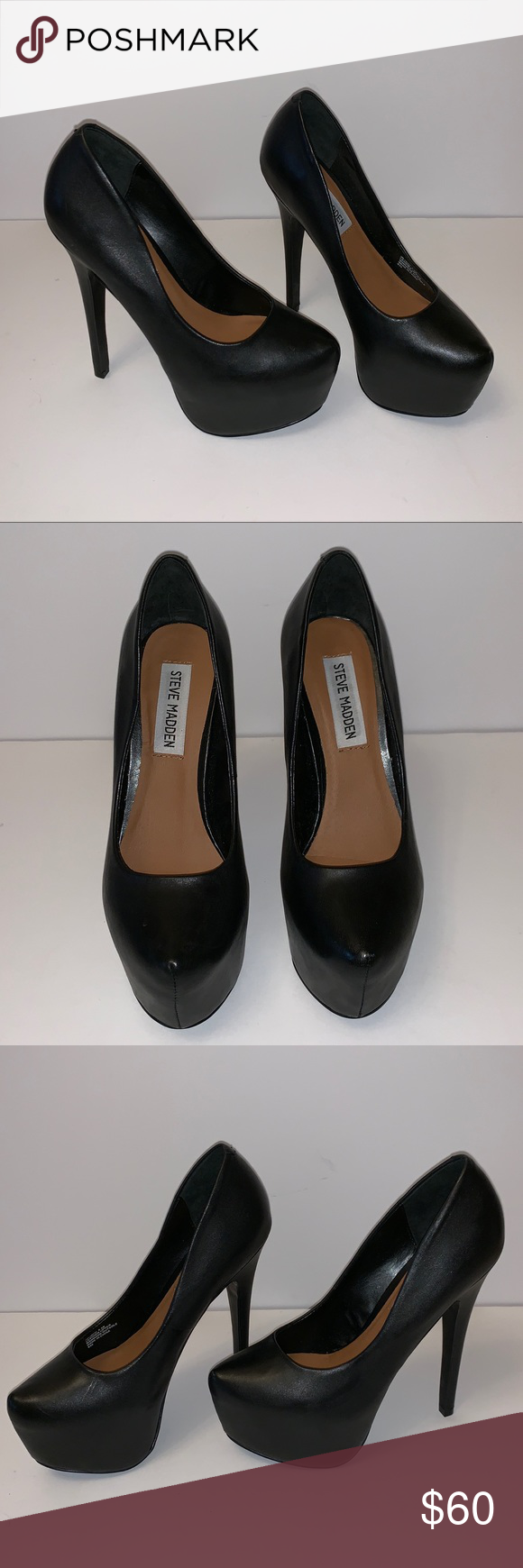 aade8530c87 Steve Madden Dejavu Black Heels Size 5.5 A great pair of black heels from Steve  Madden