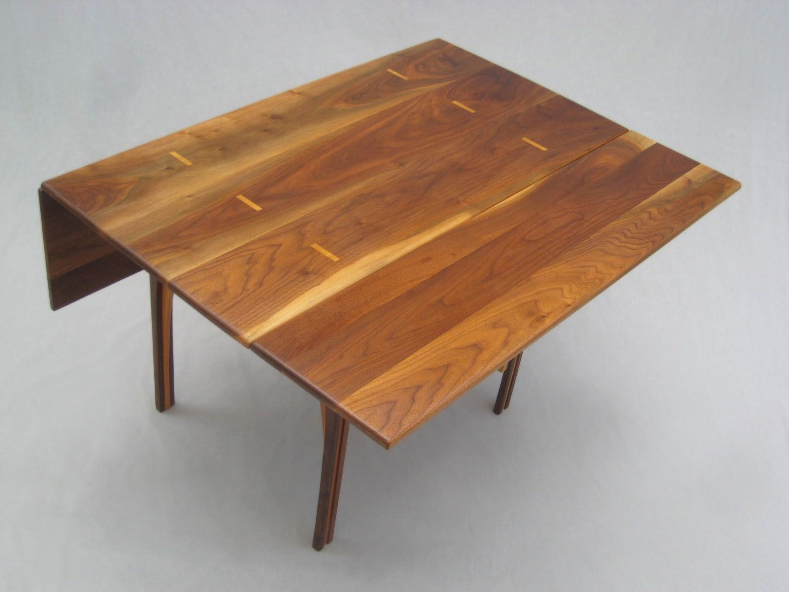 Drop leaf dining table solid walnut 48 inches square
