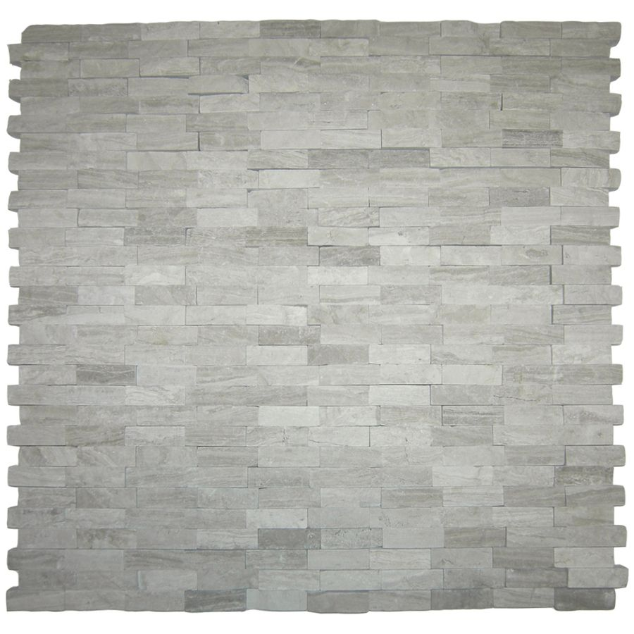 Solistone 10-Pack 12-in X 12-in Light Gray Natural Stone