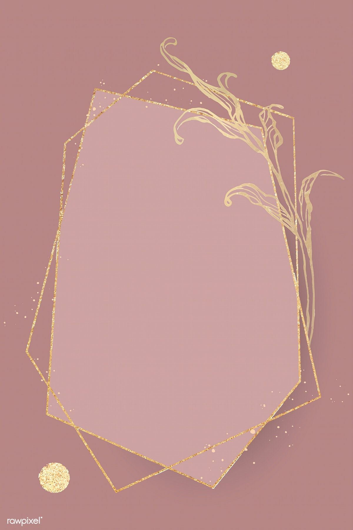 Download Premium Vector Of Gold Frame With Leaves Outline Vector 2019782 Leaf Outline Gold Frame Flower Outline