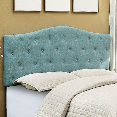 A&J Homes Studio Napa Upholstered Panel Headboard Upholstery: Blue, Size: Full/Queen