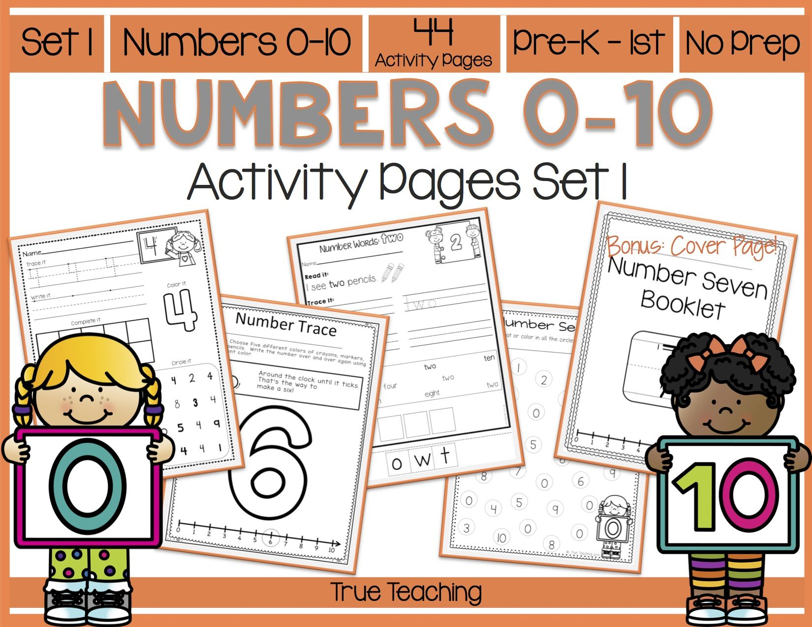 Numbers 0 10 Activity Pages Set 1