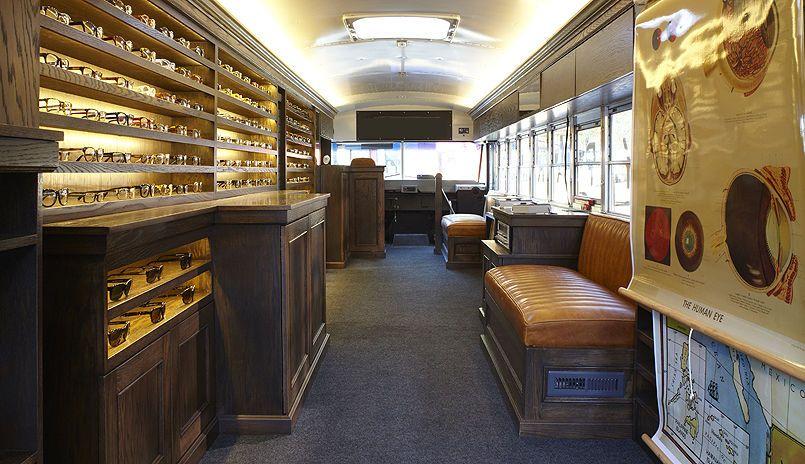 e0695b53ef Warby Parker Class Trip  Traveling School Bus Eyeglass Shop by Partners    Spade