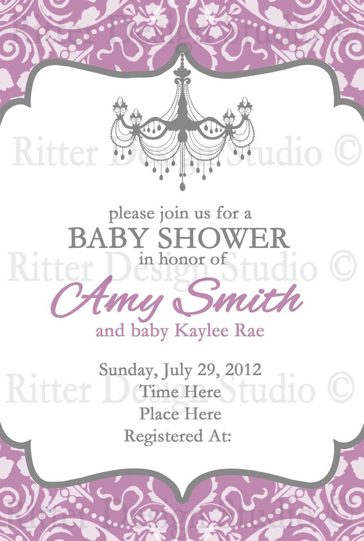 Elegant Baby Shower Invitation 15 00 Via Etsy