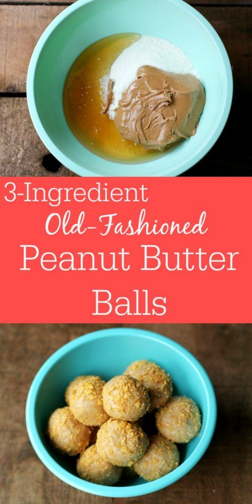 No-Bake Old-Fashioned Peanut Butter Balls