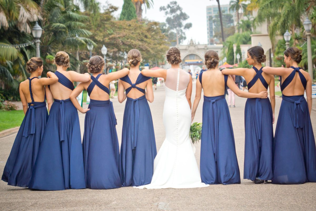 Twobirds Bridesmaids Sapphire Convertible Multiway Ballgowns Navy Bridesmaids Dre Multiway Bridesmaid Dress Infinity Dress Bridesmaid Maxi Bridesmaid Dresses