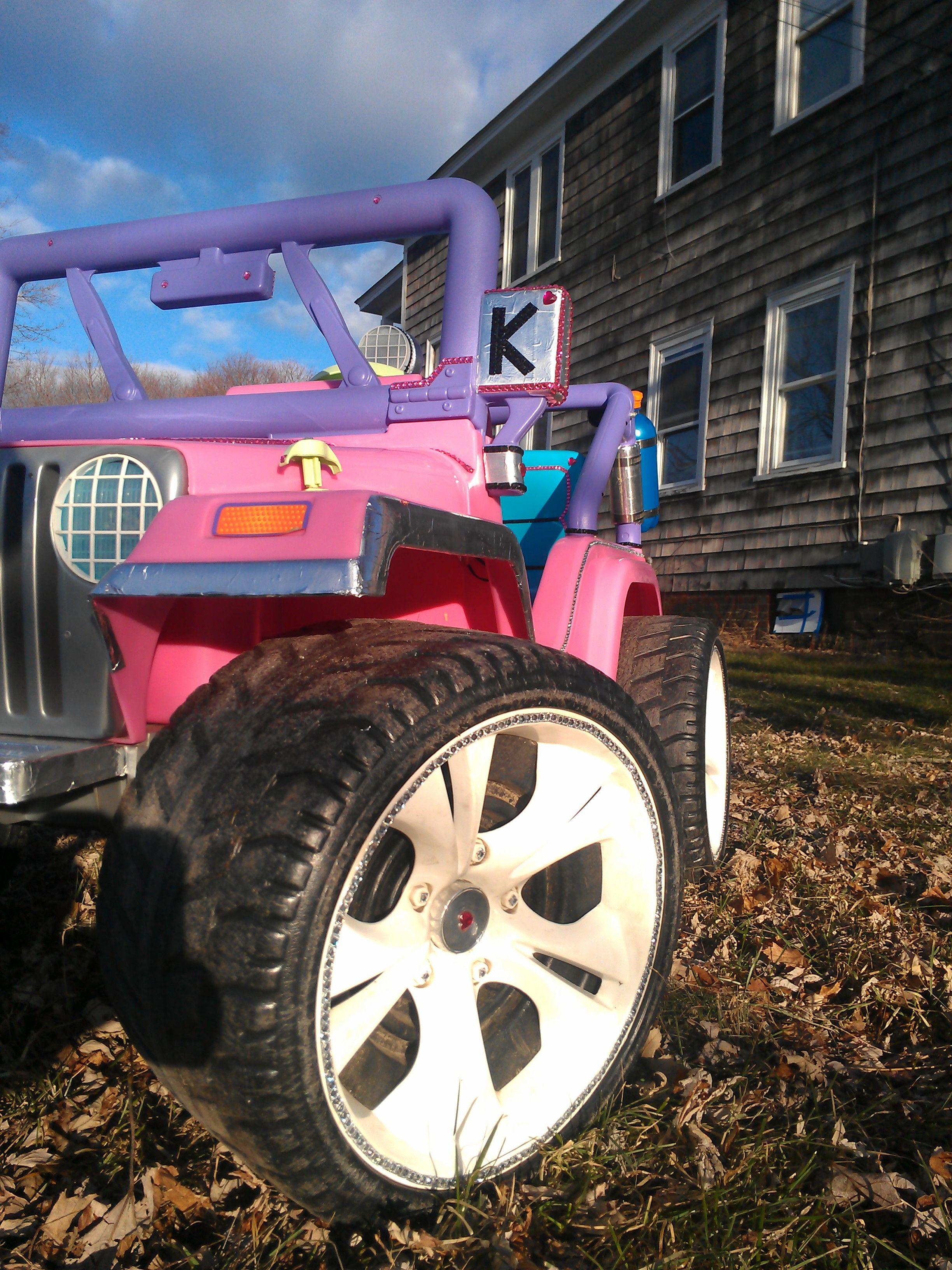Chromin Accents Monogrammed Mirror Custom Jeep Power Wheels Monster Trucks