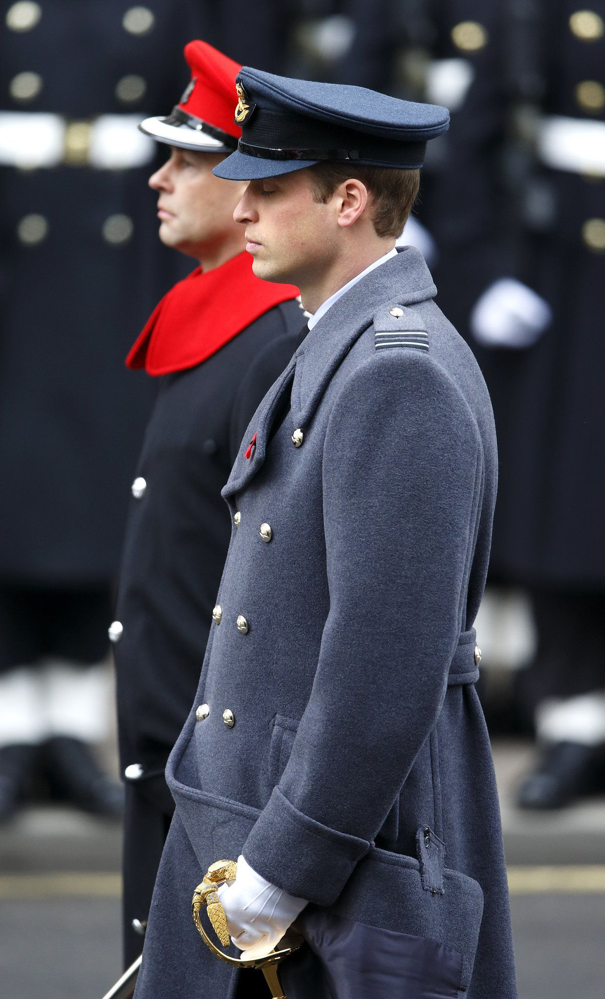 Prince William on Remembrance Sunday