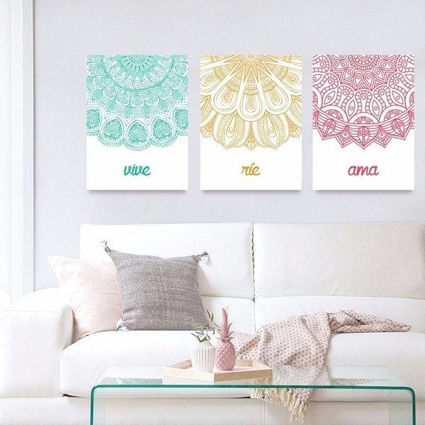 Ideas para decorar con mandalas decoraci n con mandalas - Lienzos para dormitorios ...