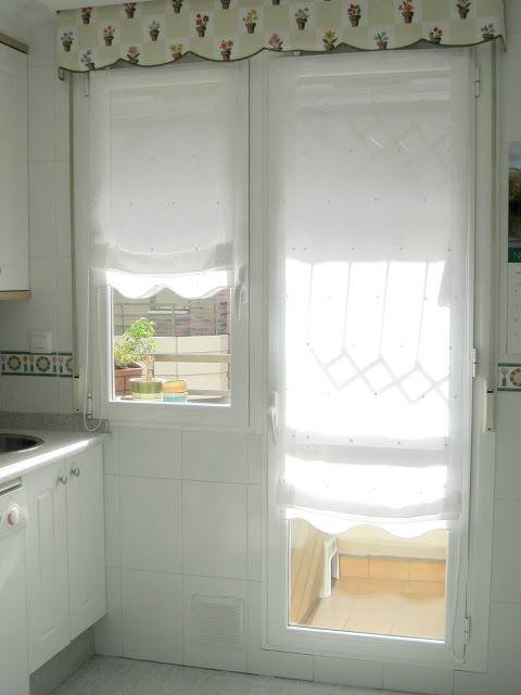 Gu a de cortinas estores enrollables para tu cocina en - Que cortinas poner en la cocina ...