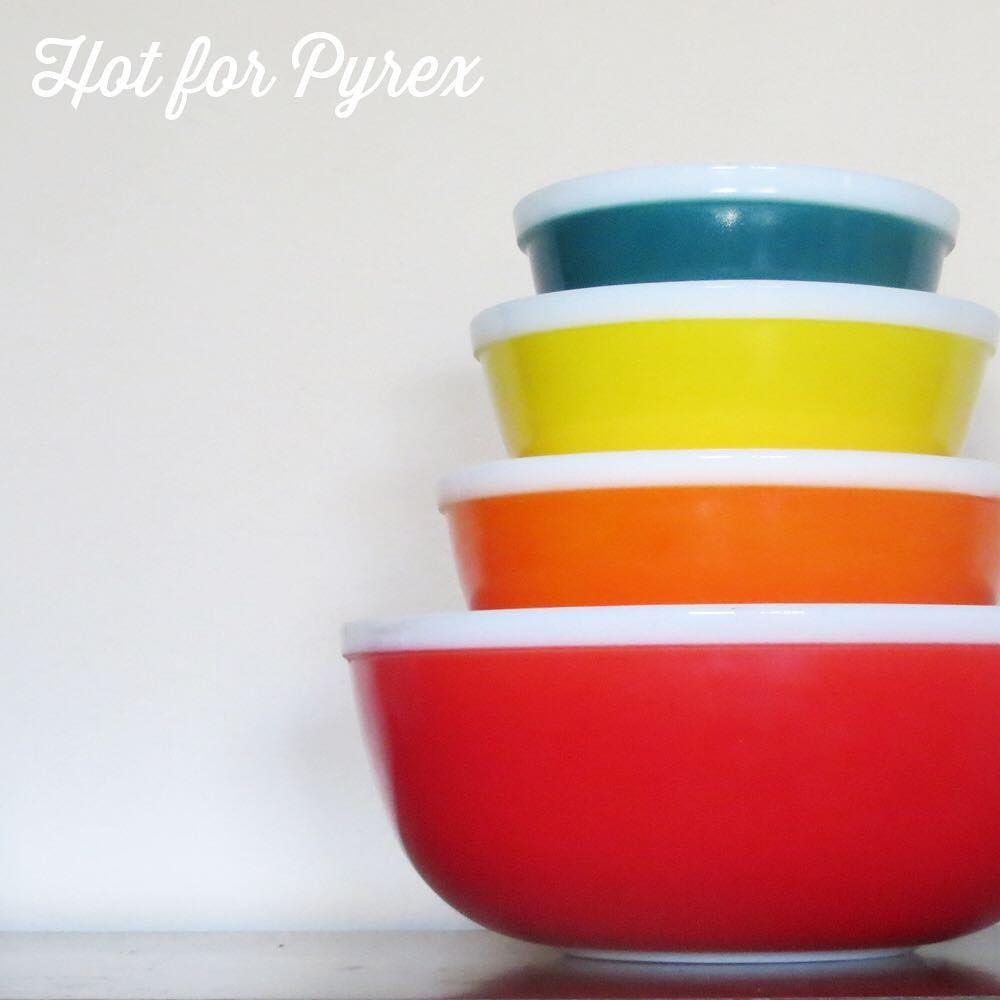 hard to find JAJ Rainbow mixing bowl set. Yellow orange red blue ...