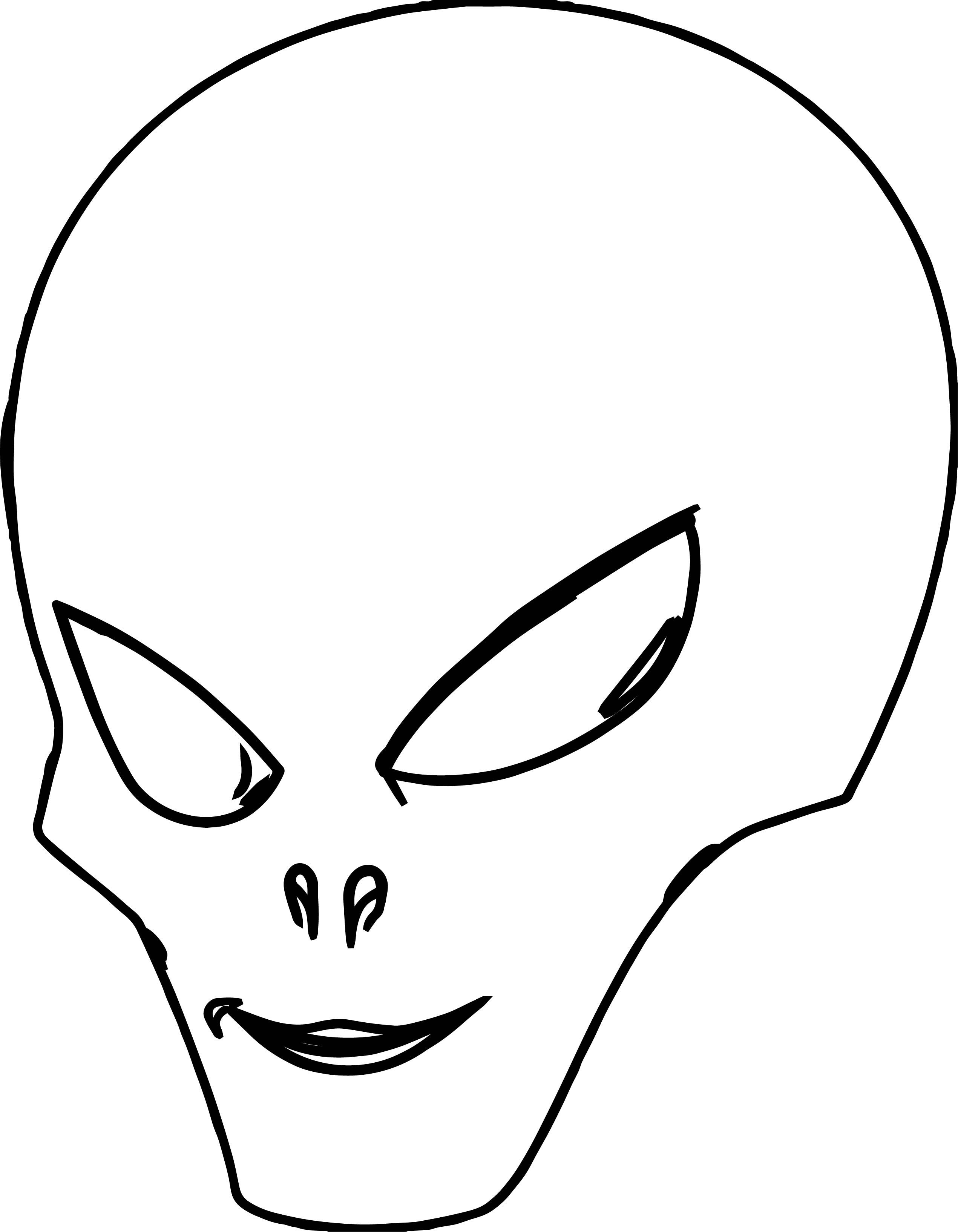 cool Alien Head Coloring Page Coloring pages, Coloring