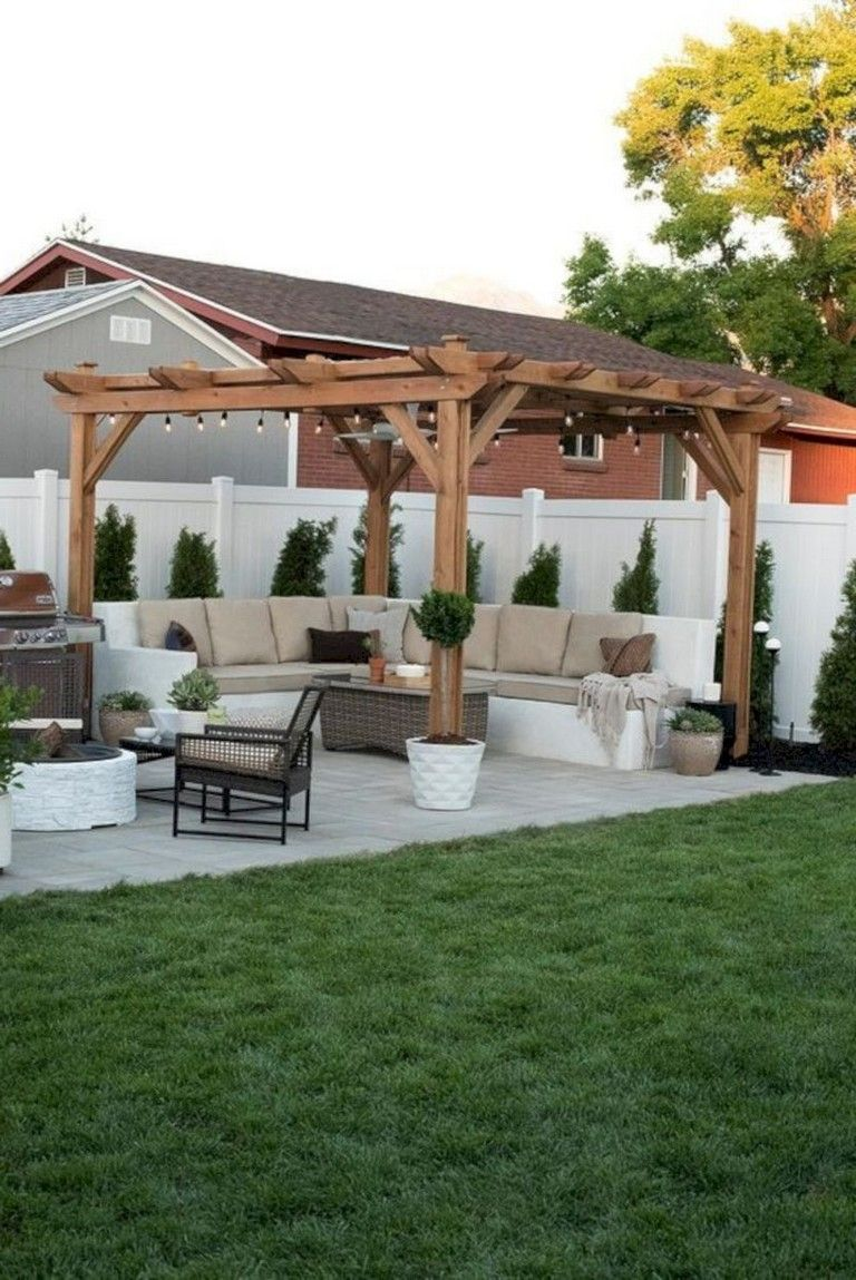 50 Cool Small Backyard Decorating Ideas Backyard Makeover Backyard Pergola Small Backyard Patio